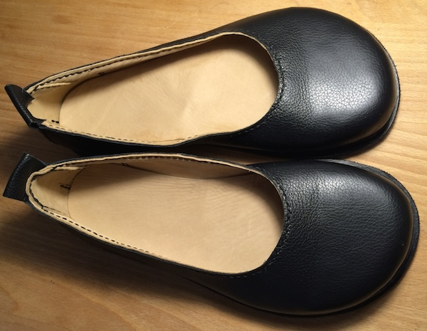 Black ballet flats handmade by tozafoot