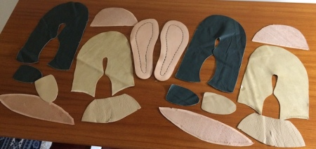 Fifteen pieces of leather
